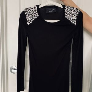 PHILIPP PLAIN BLACK DRESS